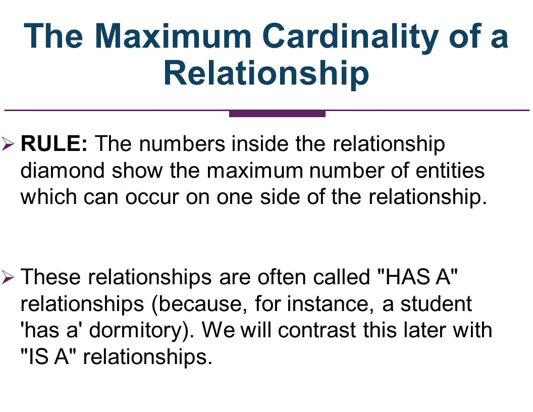 The Maximum Cardinality of a Relationship