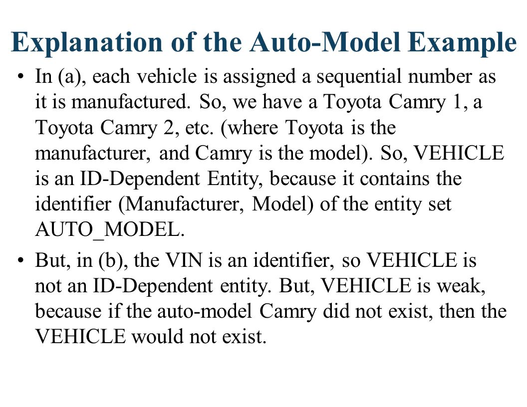 Explanation of the Auto-Model Example
