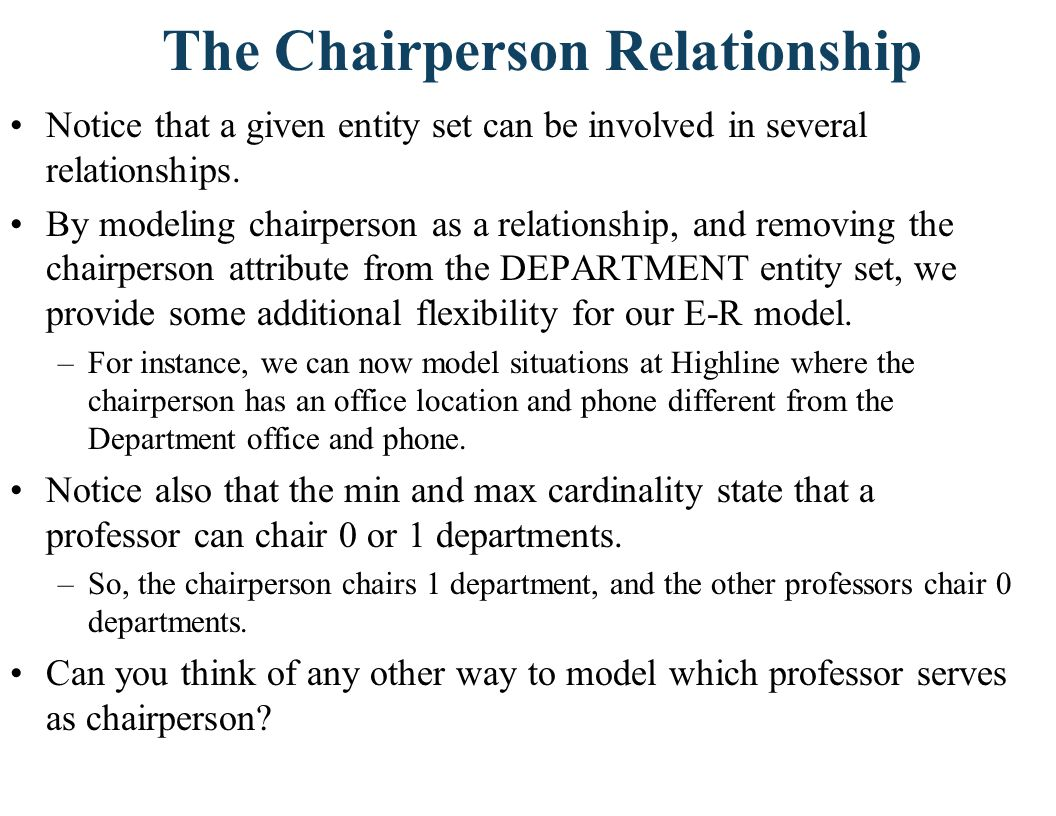 The Chairperson Relationship