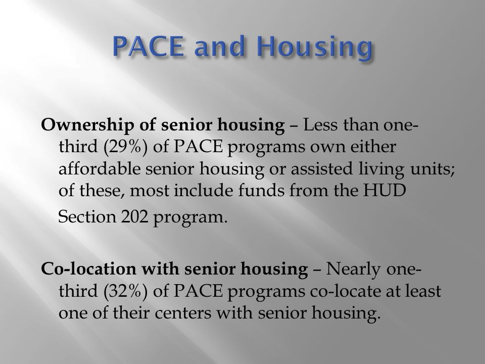 PACE and Housing