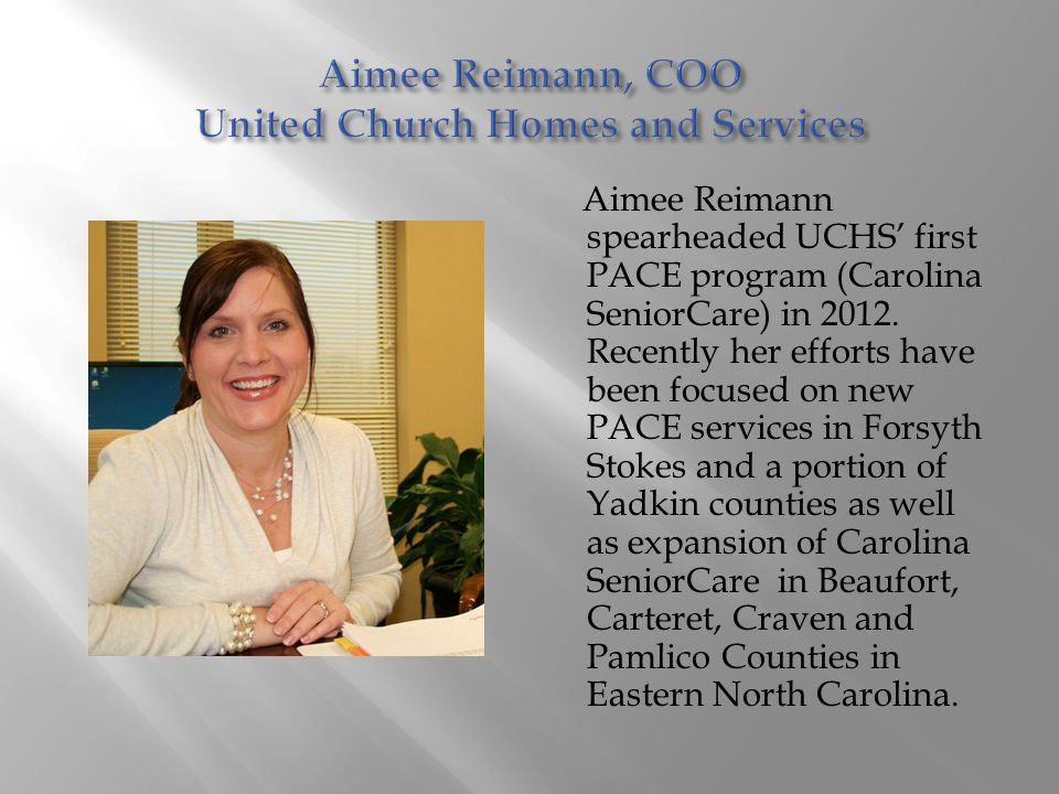 Aimee Reimann, COO United Church Homes and Services