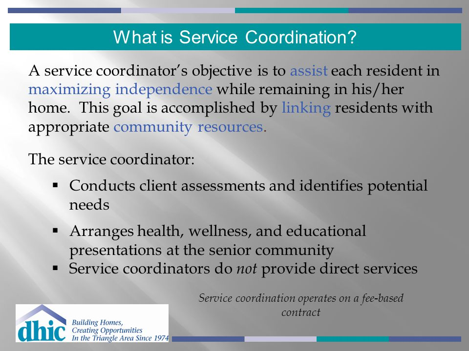 What is Service Coordination