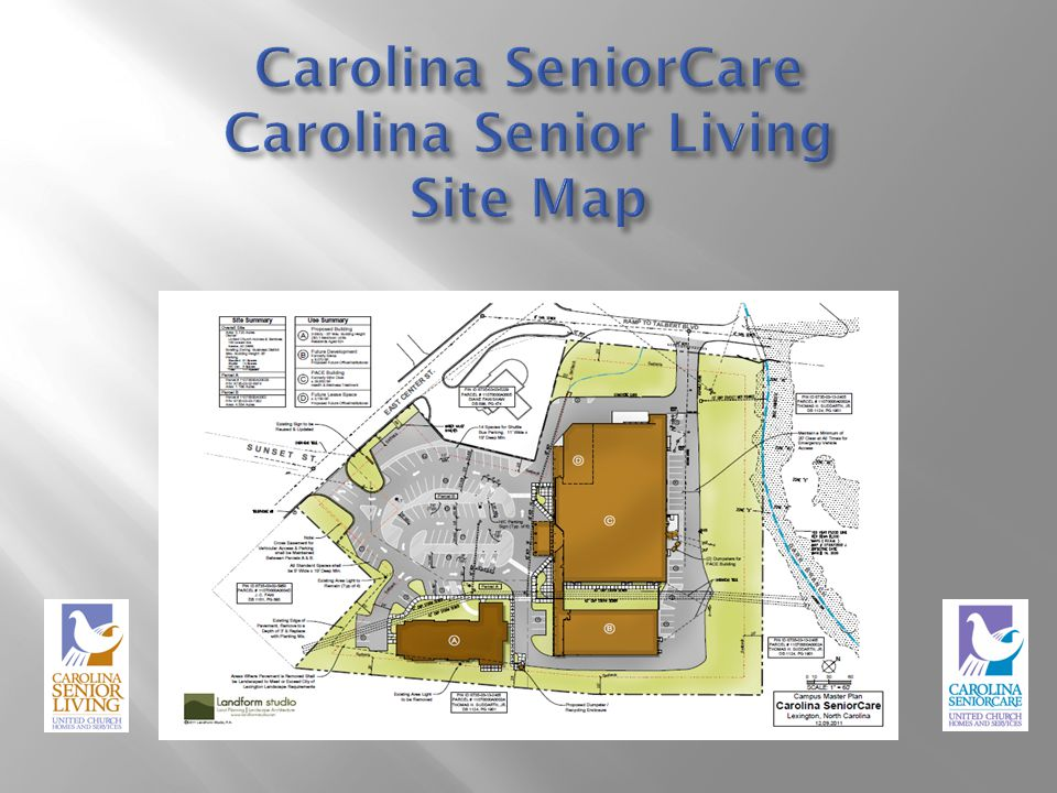 Carolina SeniorCare Carolina Senior Living Site Map