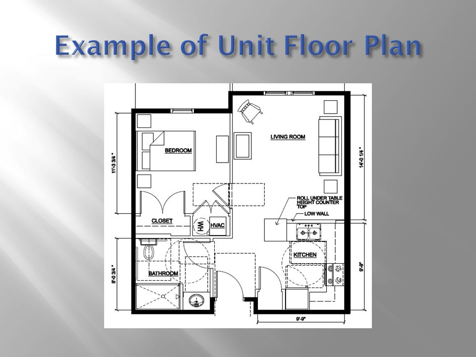 Example of Unit Floor Plan