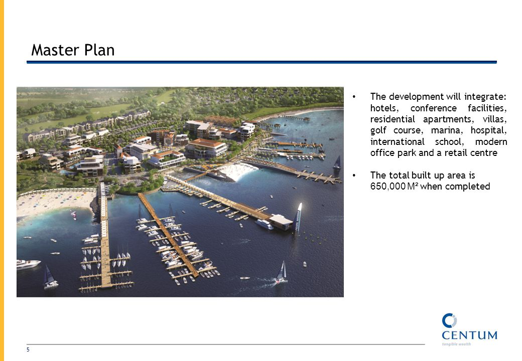 Master Plan The development will integrate: