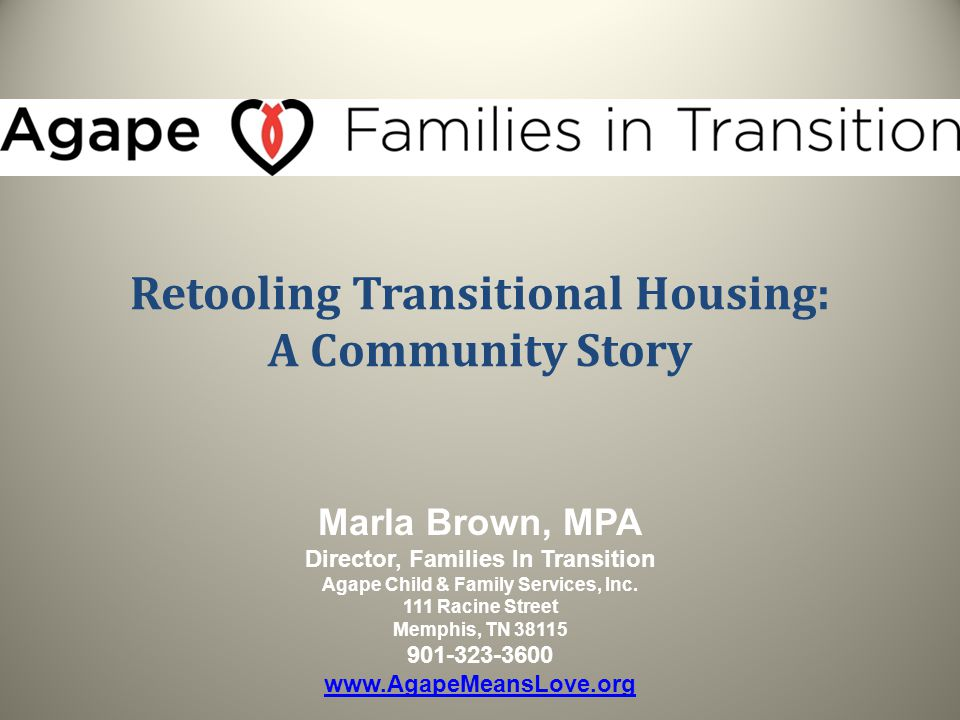 Retooling Transitional Housing: A Community Story