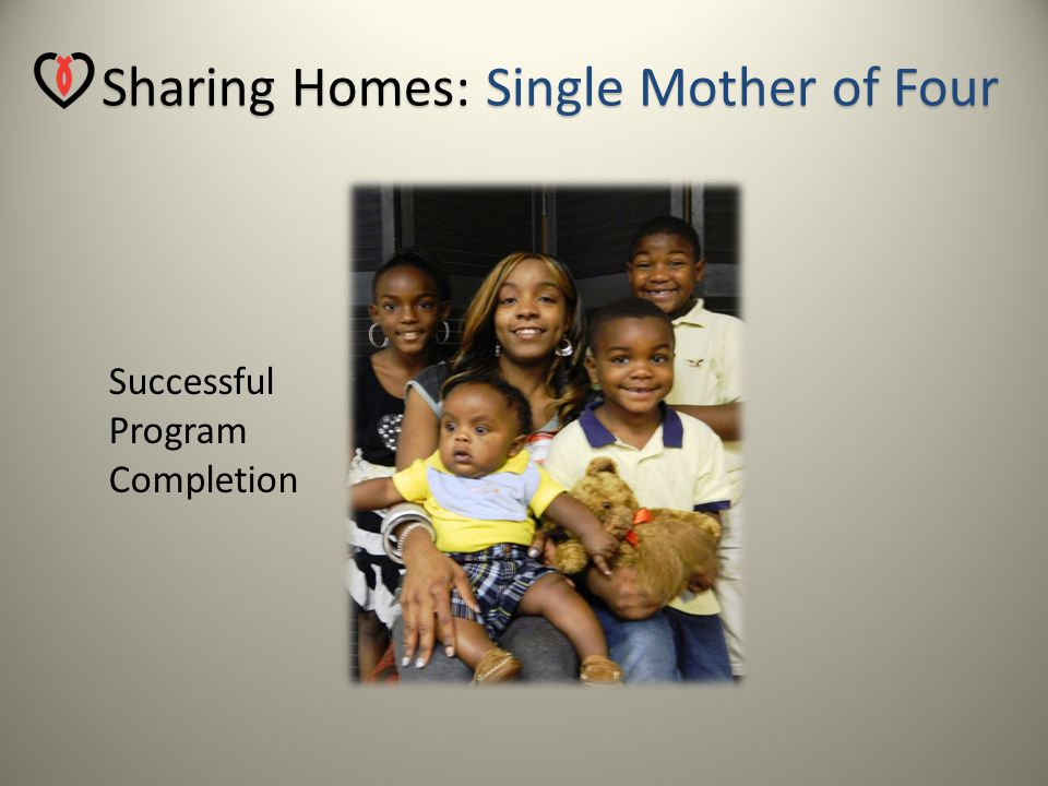 Sharing Homes: Single Mother of Four