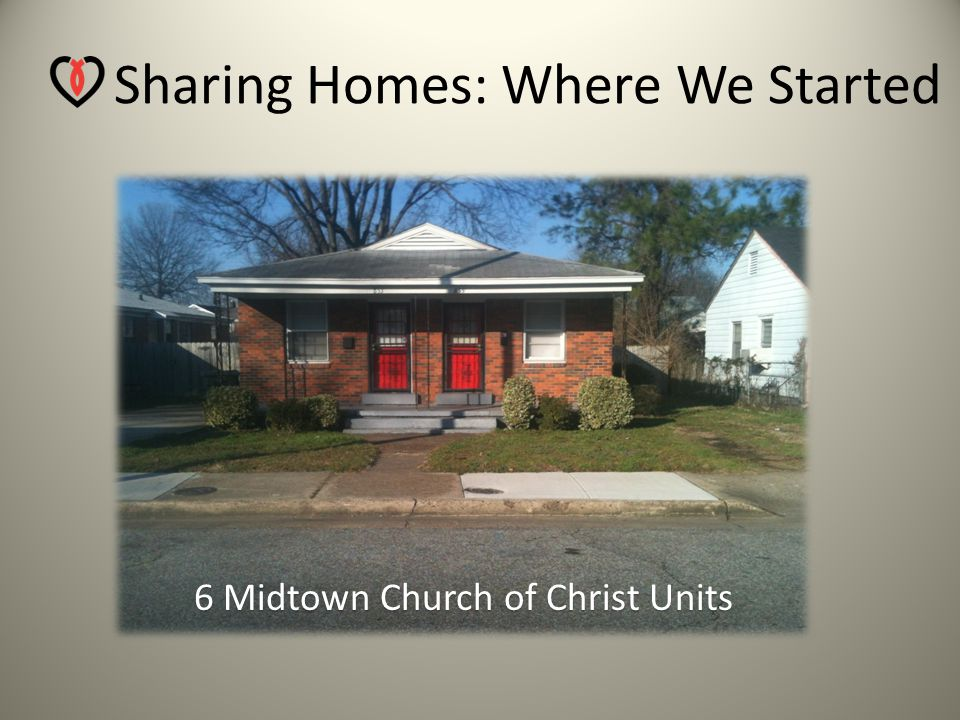 Sharing Homes: Where We Started