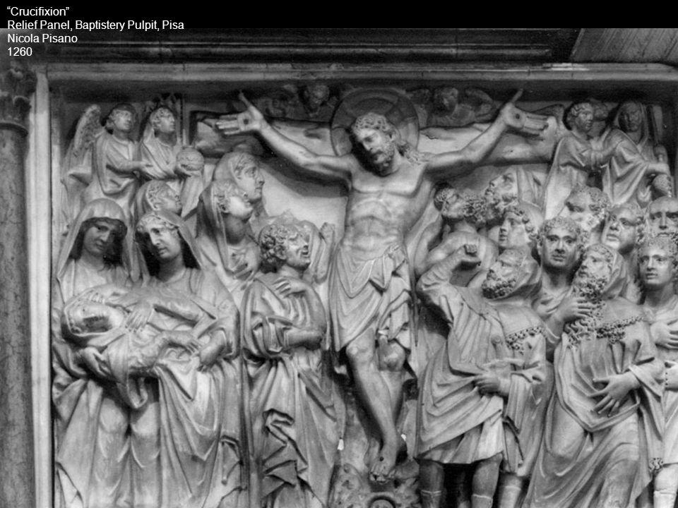 Crucifixion Relief Panel, Baptistery Pulpit, Pisa Nicola Pisano 1260