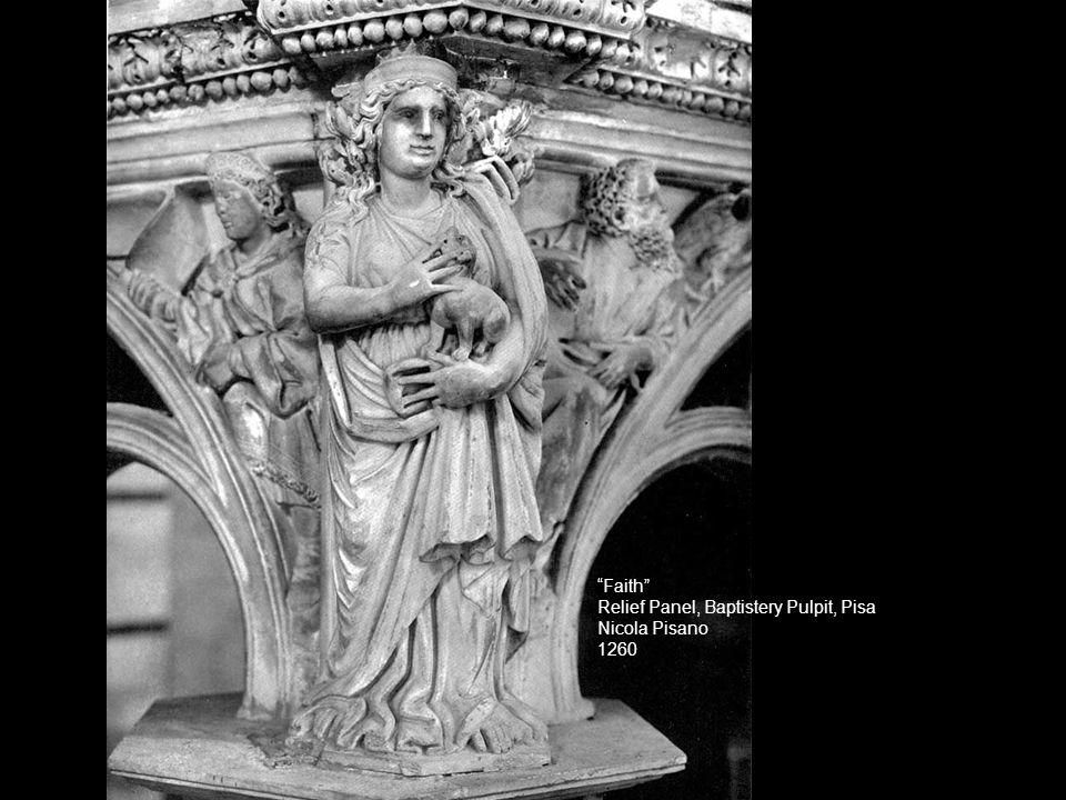 Faith Relief Panel, Baptistery Pulpit, Pisa Nicola Pisano 1260