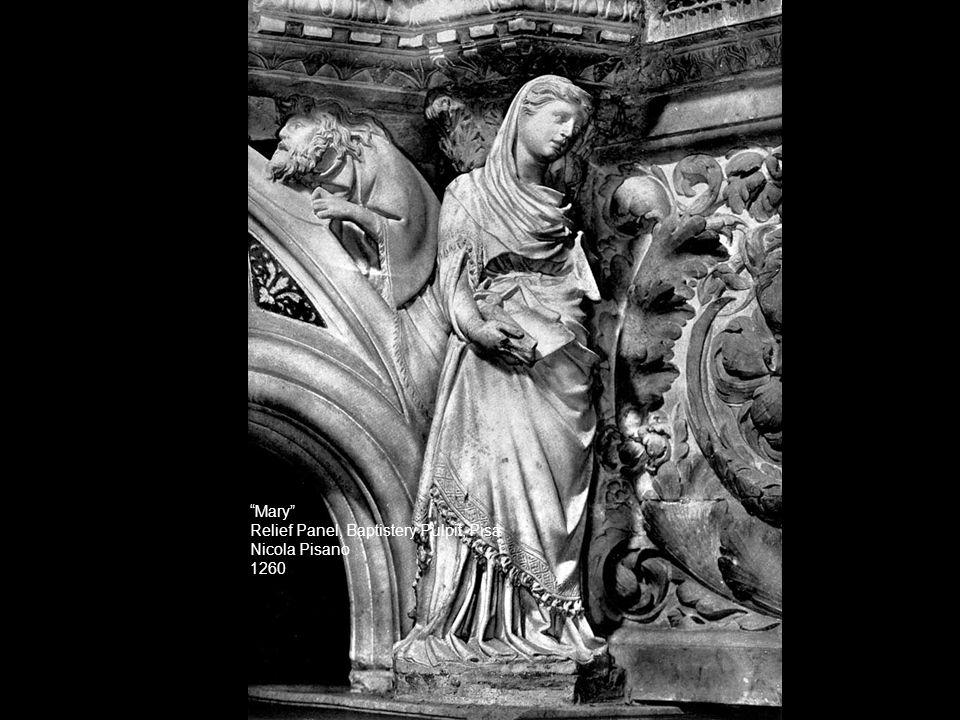Mary Relief Panel, Baptistery Pulpit, Pisa Nicola Pisano 1260