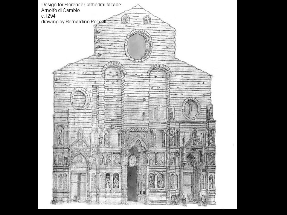 Design for Florence Cathedral facade