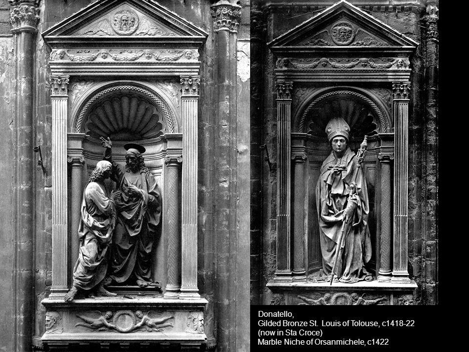 Donatello, Gilded Bronze St. Louis of Tolouse, c1418-22.
