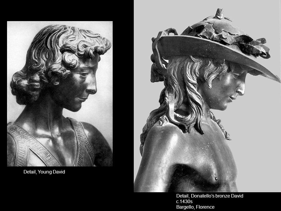 Detail, Young David Detail, Donatello's bronze David c.1430s Bargello, Florence