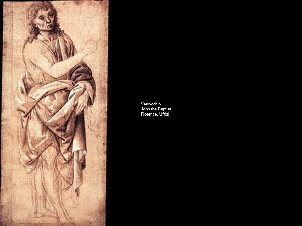 Verrocchio John the Baptist Florence, Uffizi