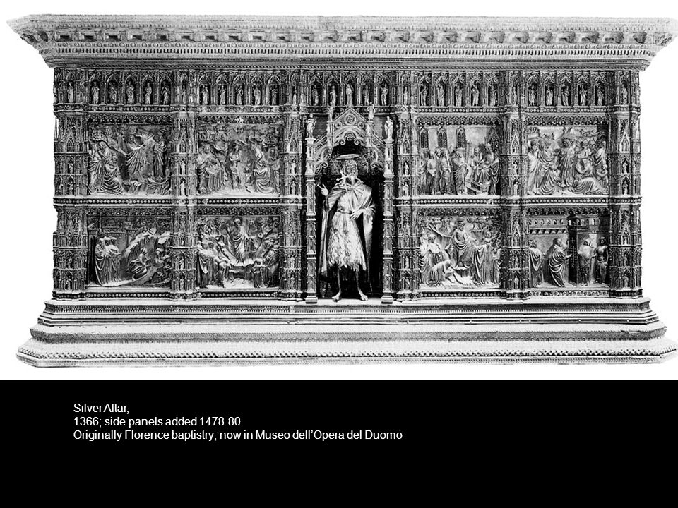 Silver Altar, 1366; side panels added 1478-80.