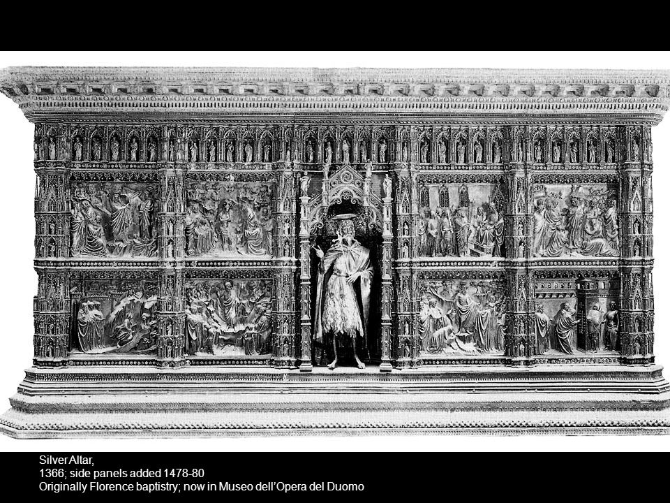 Silver Altar, 1366; side panels added