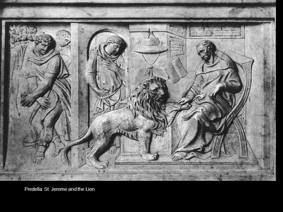 Predella: St. Jerome and the Lion