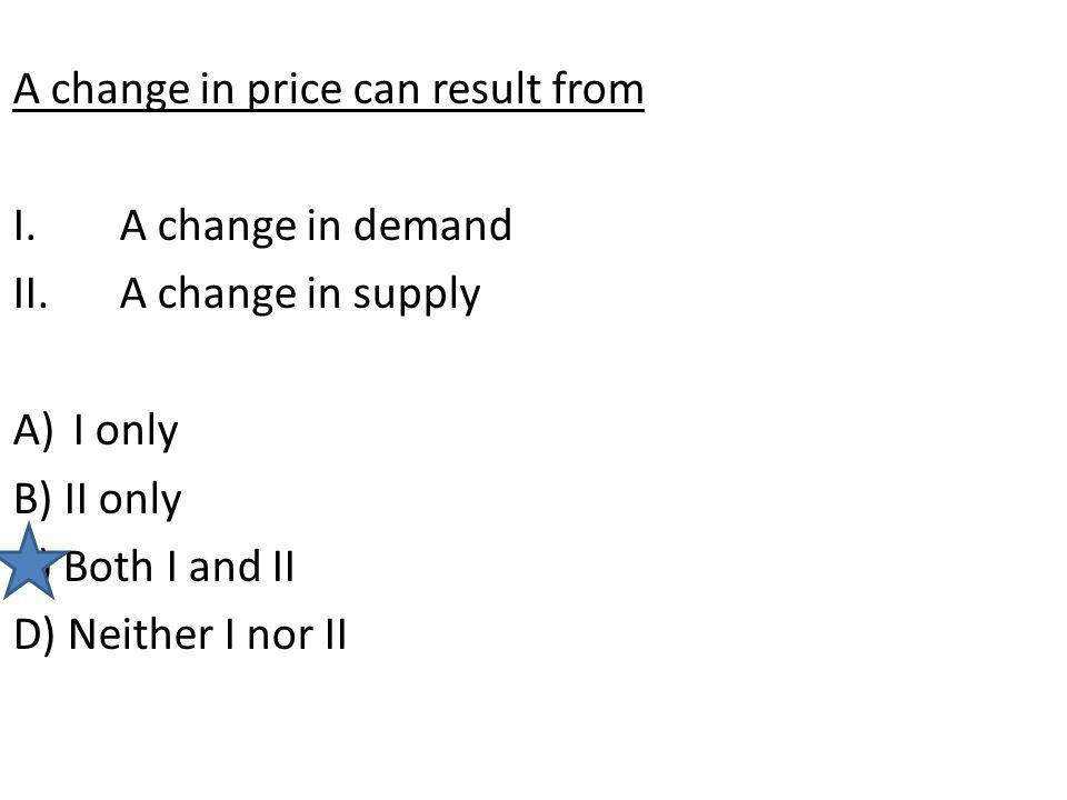 A change in price can result from