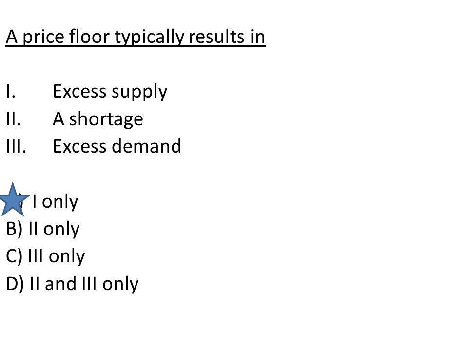 A price floor typically results in