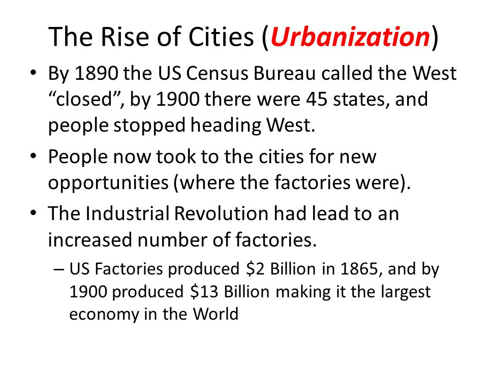 The Rise of Cities (Urbanization)