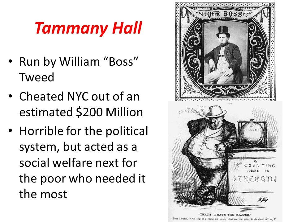 Tammany Hall Run by William Boss Tweed
