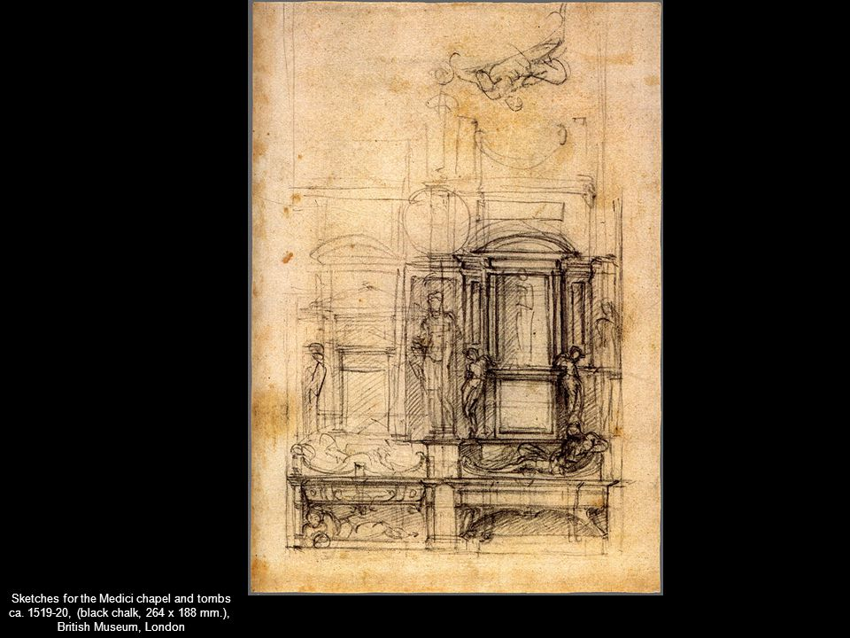 Sketches for the Medici chapel and tombs