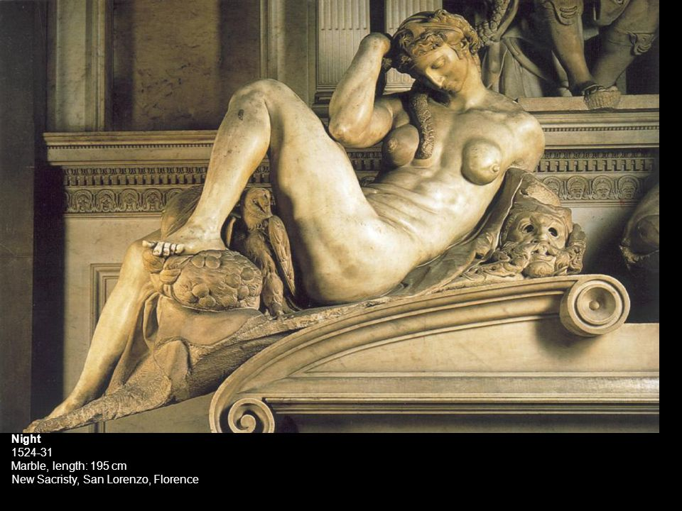 Night 1524-31 Marble, length: 195 cm New Sacristy, San Lorenzo, Florence