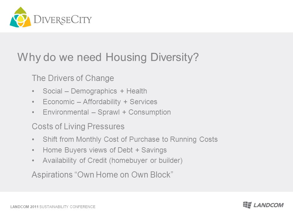 Why do we need Housing Diversity