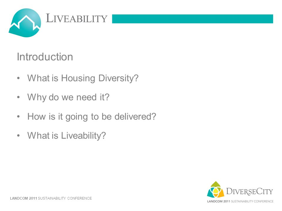 Introduction What is Housing Diversity Why do we need it