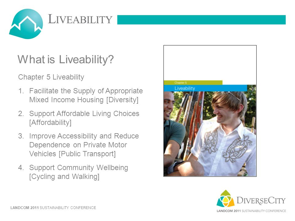 What is Liveability Chapter 5 Liveability