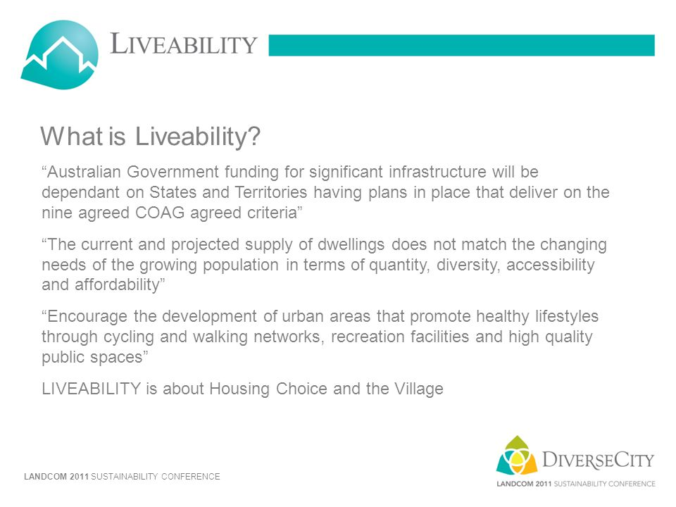 What is Liveability