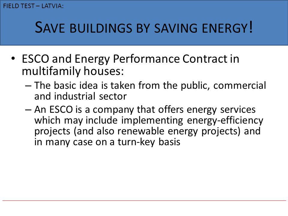 Save buildings by saving energy!