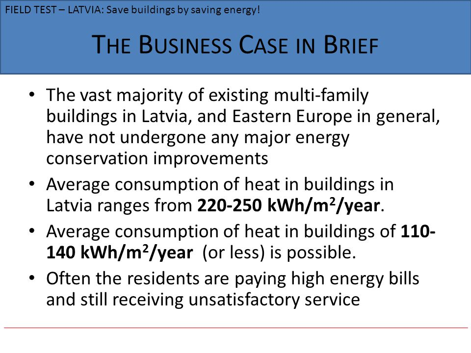 The Business Case in Brief