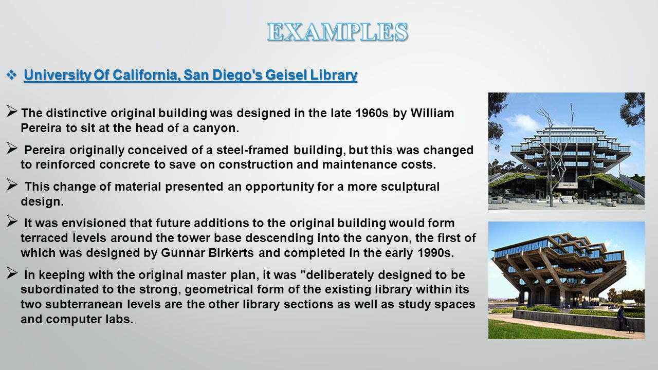 University Of California, San Diego s Geisel Library