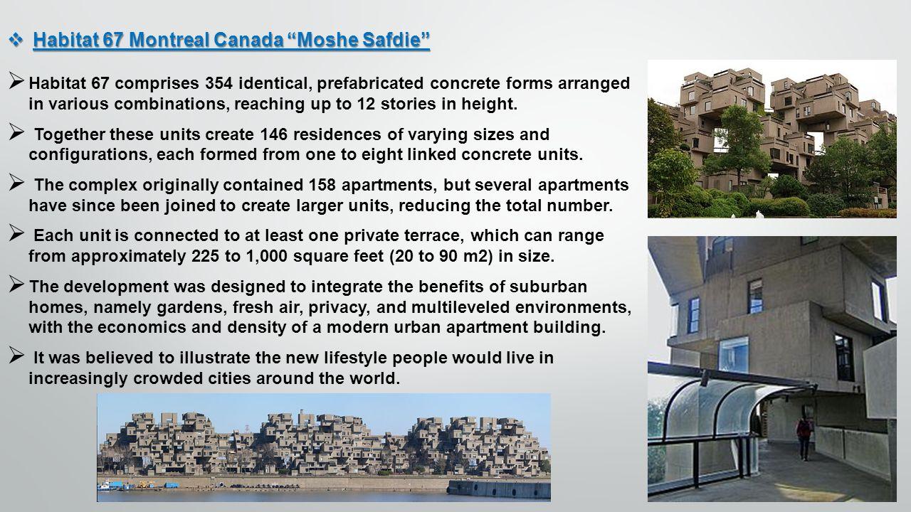 Habitat 67 Montreal Canada Moshe Safdie