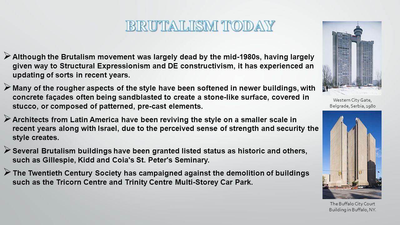 BRUTALISM TODAY