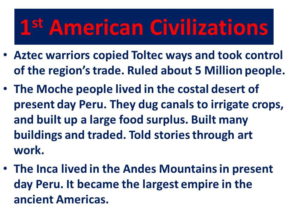 1st American Civilizations