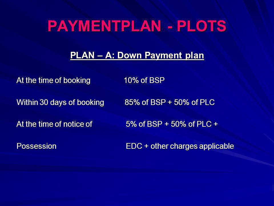 PLAN – A: Down Payment plan