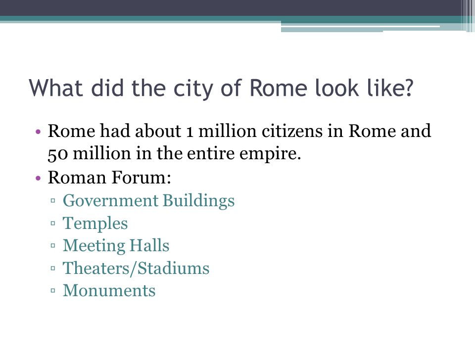 What did the city of Rome look like