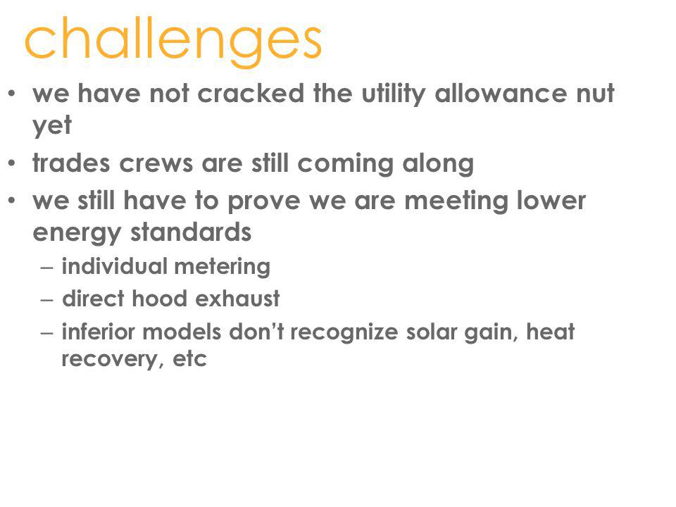 challenges we have not cracked the utility allowance nut yet