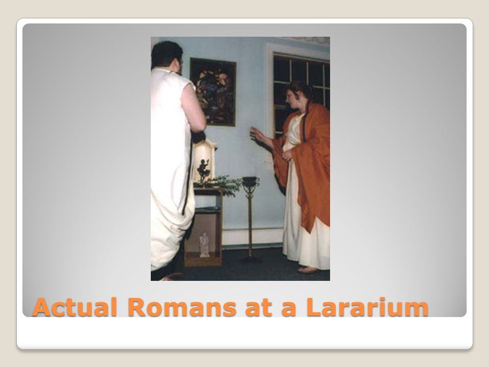 Actual Romans at a Lararium