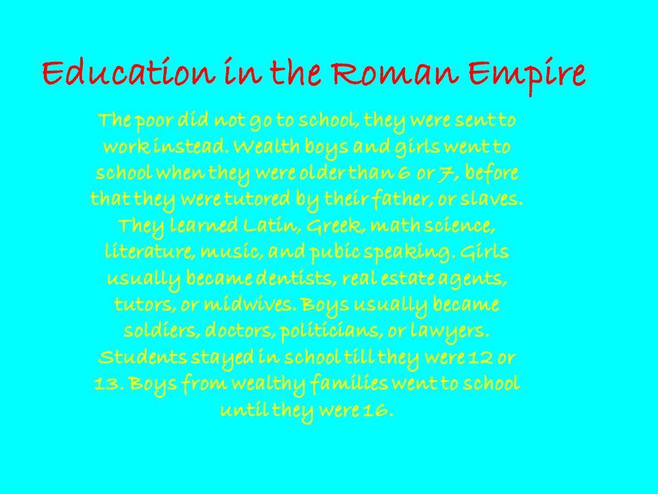 Education in the Roman Empire
