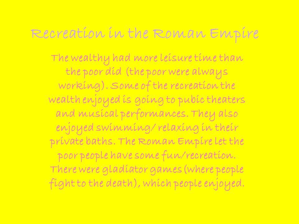 Recreation in the Roman Empire