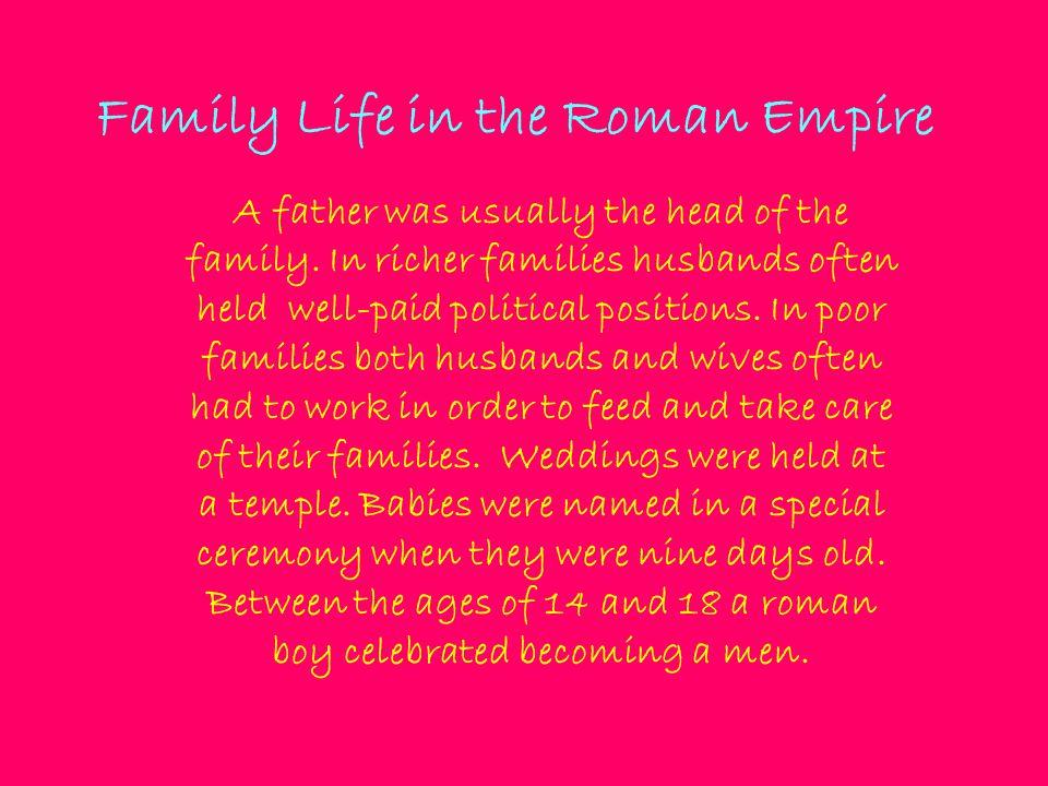 Family Life in the Roman Empire