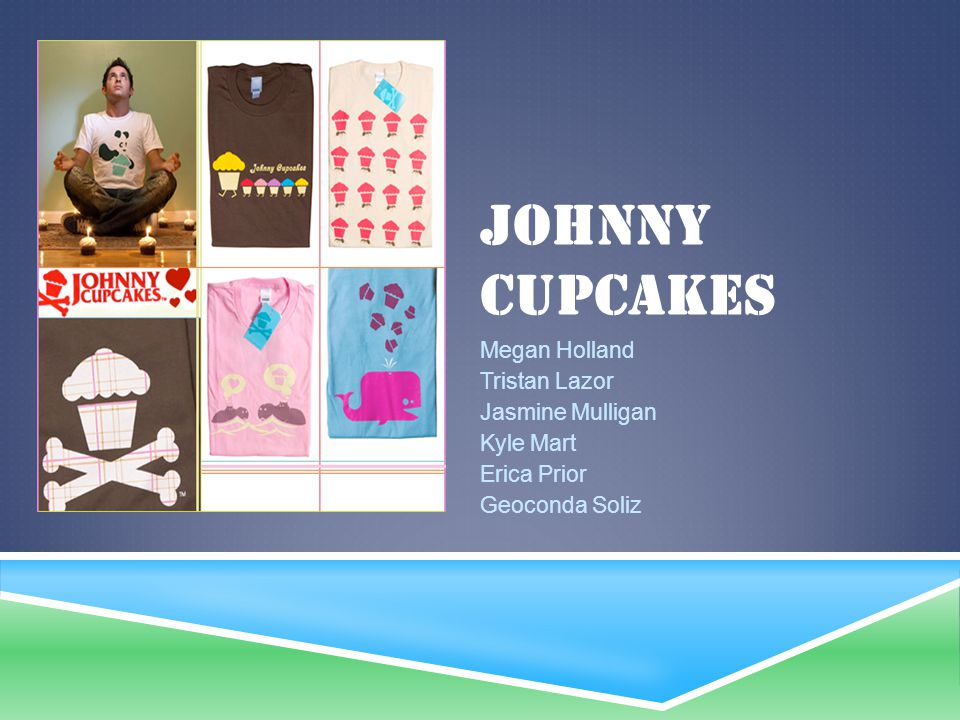 Johnny Cupcakes Megan Holland Tristan Lazor Jasmine Mulligan Kyle Mart