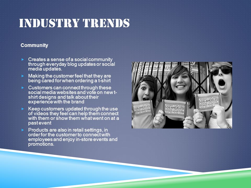 Industry trends Community