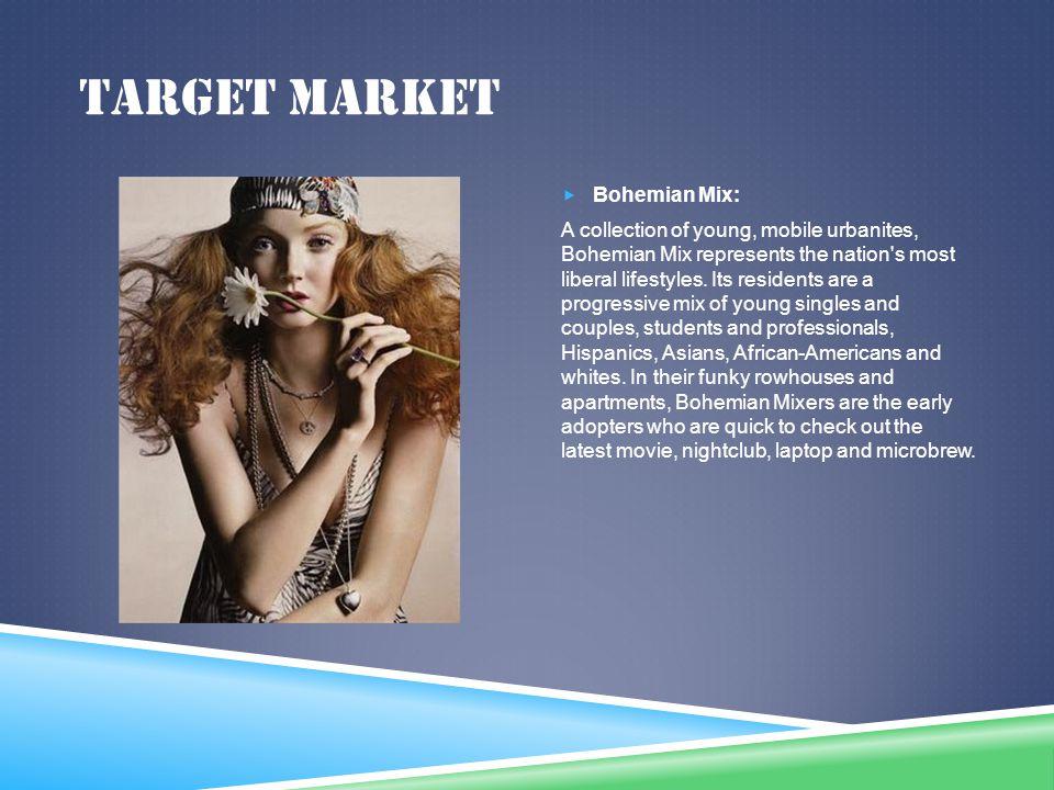 Target market Bohemian Mix: