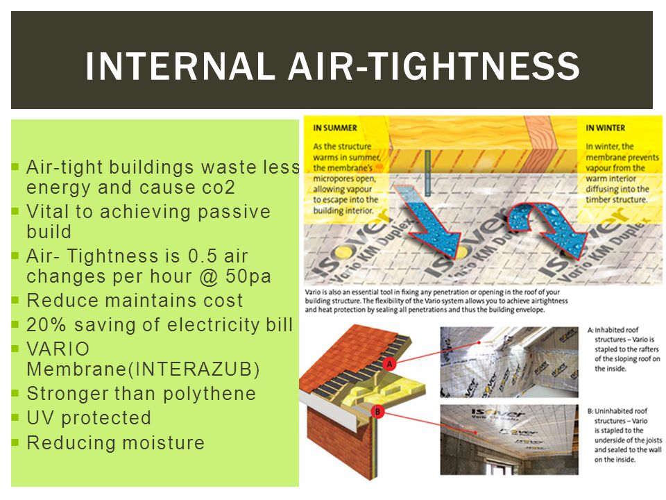 Internal air-tightness
