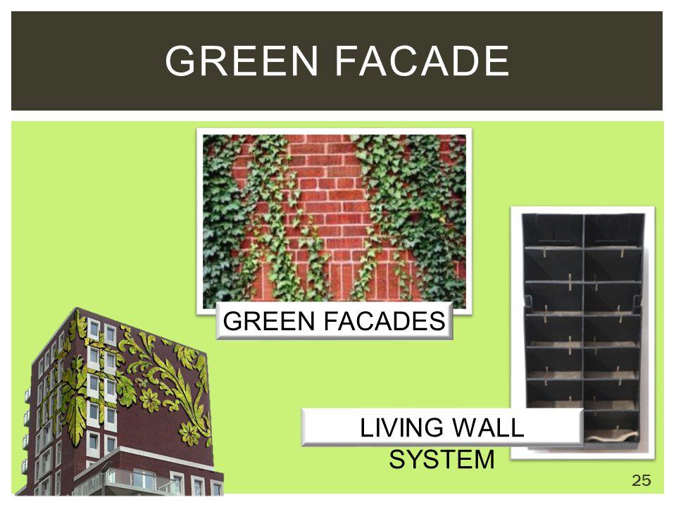 GREEN FACADE GREEN FACADES LIVING WALL SYSTEM